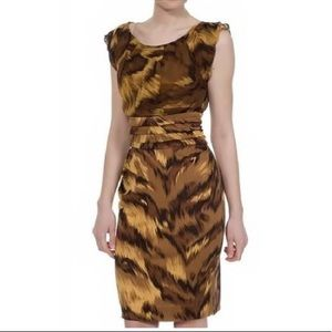 NWT DVF silk animal print dress 8 Medium